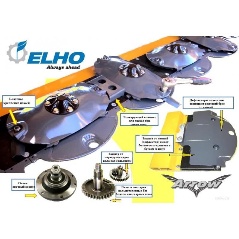 Прицепная дисковая (роторная) косилка с пальцевым кондиционером или вальцевым плющильным аппаратом серии NM 2400-2800-3200-3700 (ELHO, Финляндия)