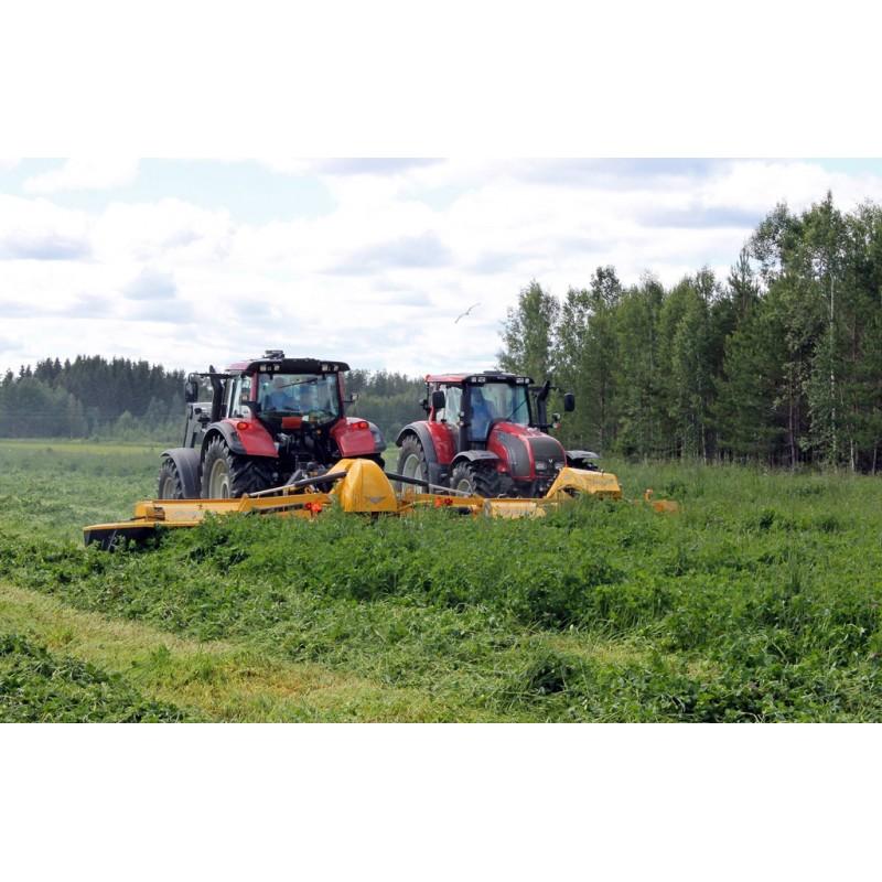 Широкозахватная дисковая (роторная) двухсекционная косилка с пальцевым кондиционером DUETT 7300 для работы с реверсивными тракторами (ELHO, Финляндия)